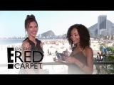 Alessandra Ambrosio Teaches Zuri Hall Portuguese | E! Live from the Red Carpet