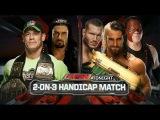 Roman Reigns John Cena vs Seth Rollins, Randy Orton Kane 2 on 3 Handicap Match Raw Latino ᴴᴰ