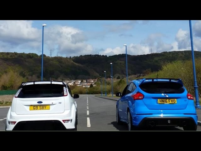 Ford Focus RS MK2 vs Ford Focus RS MK3 - Acceleration 0-200km/h, Revs Exhaust Sound