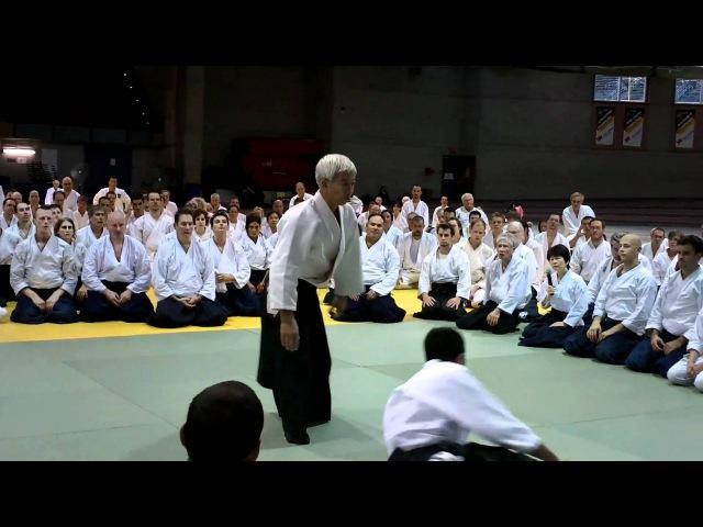 HD Aikido Doshu Moriteru Ueshiba Sensei 2010 Canada Montreal Ryotetori Tenchinage