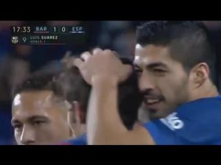 Барселона 1-0 Эспаньол. Гол Суареса