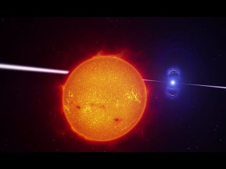 Exotic Binary Star System Discovered / White Dwarf Lashes Red Dwarf with Mystery Ray