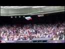 знамение- флаг США упал на первом аккорде Российского гимна Олимпиада Лондон 2012