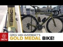 Greg Van Avermaet's Custom GOLD BMC Teammachine SLR01