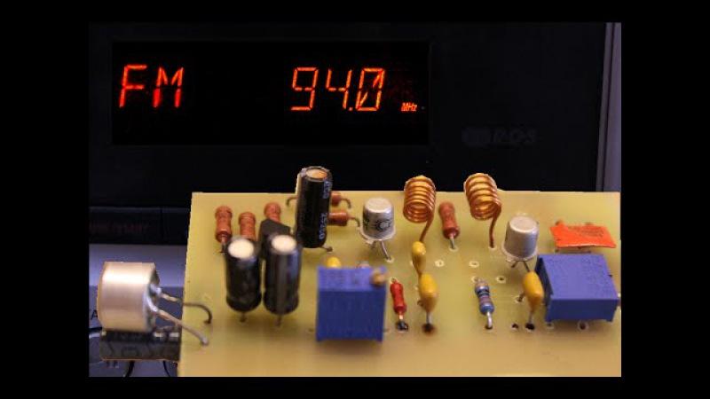 FM радиопередатчик КТ368 ~~100м