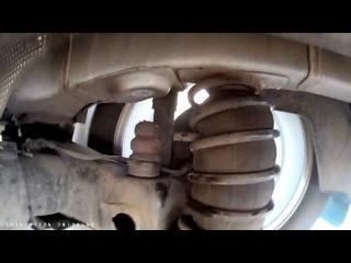 Citroen C Elysee работа задней подвески с пневмобаллонами