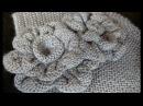 3 МК ЦВЕТЫ спицами для винтажной шапочки Вязание цветочки спицами