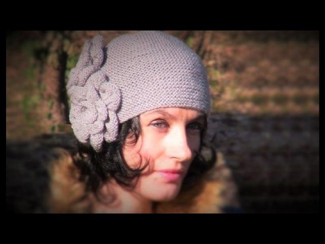Вязание: винтажная шапка спицами. 2 видео. Вяжем шапочку спицами с цветами. Вязан ...