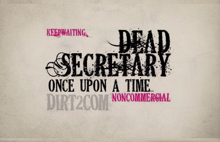 Download Dead Secretary font (typeface)