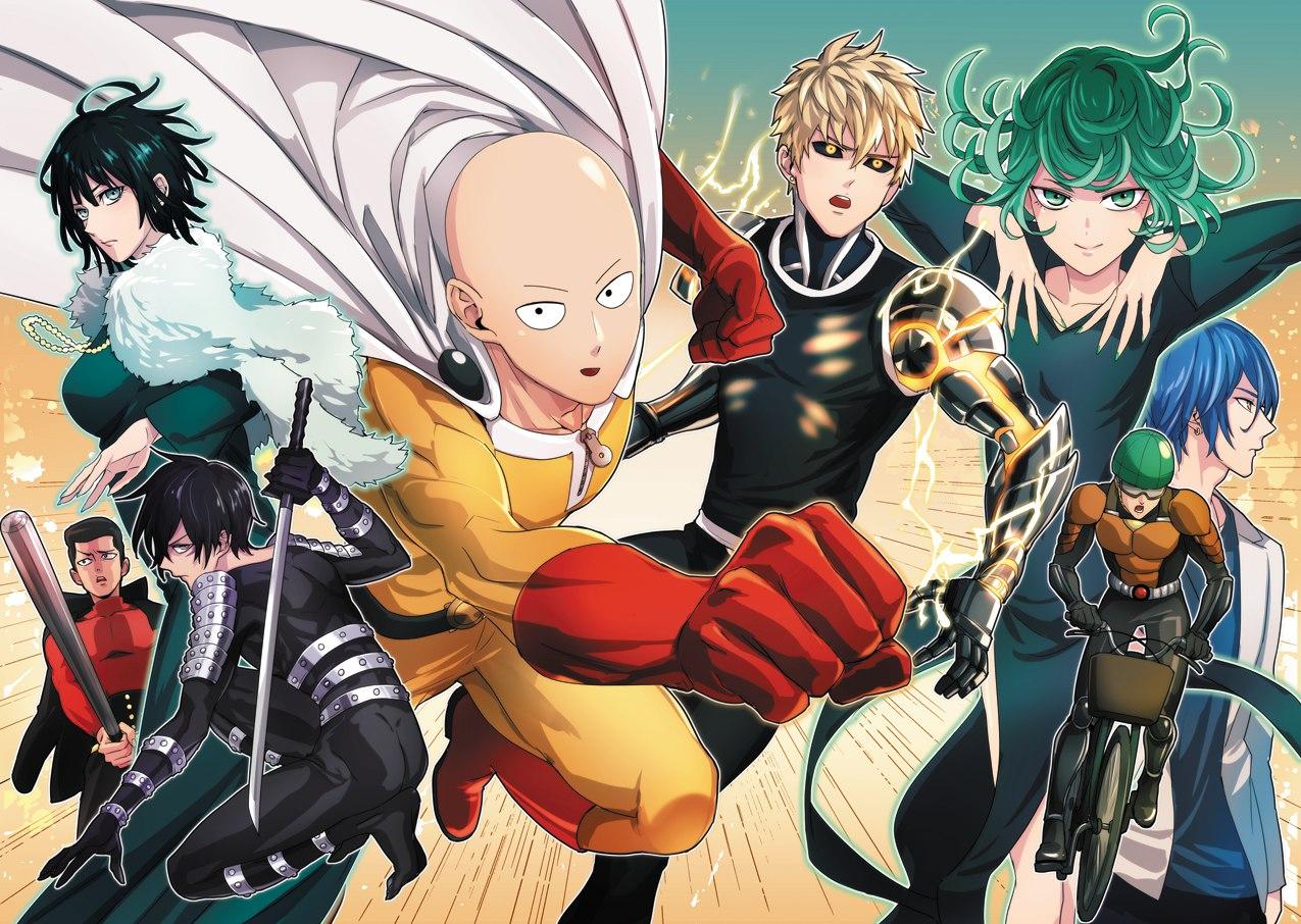 6 Anime Characters Who Can Challenge Saitama : One punch man fubuki metal bat sonic saitama genos