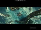 Кракен топит торговый корабль. Пираты Карибского моря 2: Сундук мертвеца
