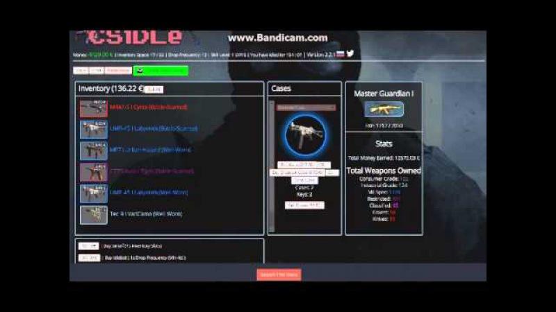 Симулятор кейсов CS:GO 4-CSidle 3 ножа!