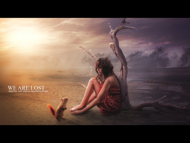 Create This We Are Lost Photo Manipulation In Photoshop
