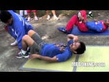 Road To Mosley, Manny Pacquiao's Complete Morning Core Workout Day 4 3/17/11