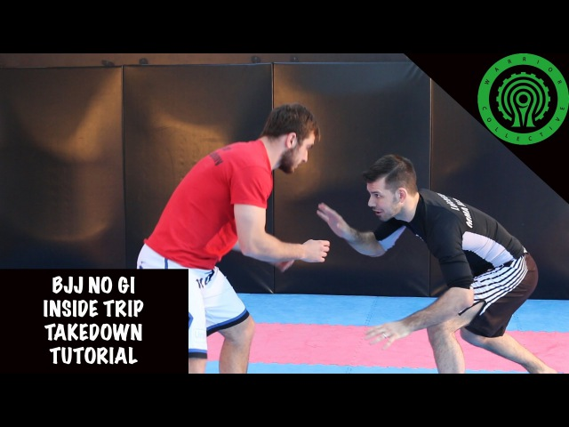 BJJ No Gi Inside Trip Takedown Tutorial bjj no gi inside trip takedown tutorial