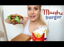 EATING SHOW: McDonalds Maestro Burger! WIth Old Amsterdam Cheese