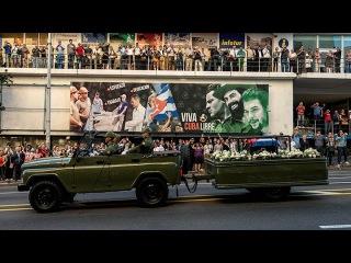 La urna con los restos de Fidel va en caravana hacia Santiago de Cuba