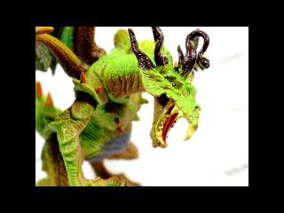 Круговой обзор игрушечного дракона YangGuang Зелено-желтый