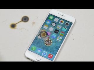iPhone 6 против раскаленных шариков