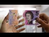 В Австралии показали полимерные купюры с анимацией