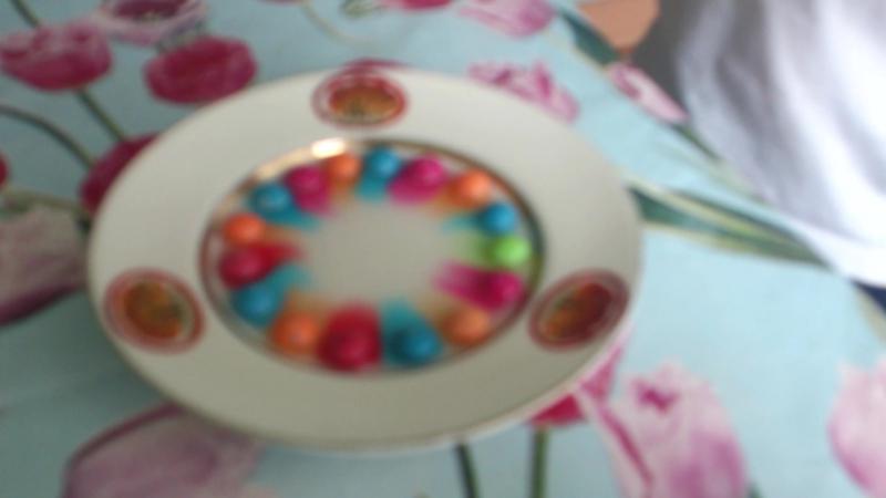 Эксперимент с конфетами Skittles
