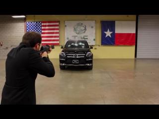 Автомат Калашникова против бронированного Mercedes-Benz