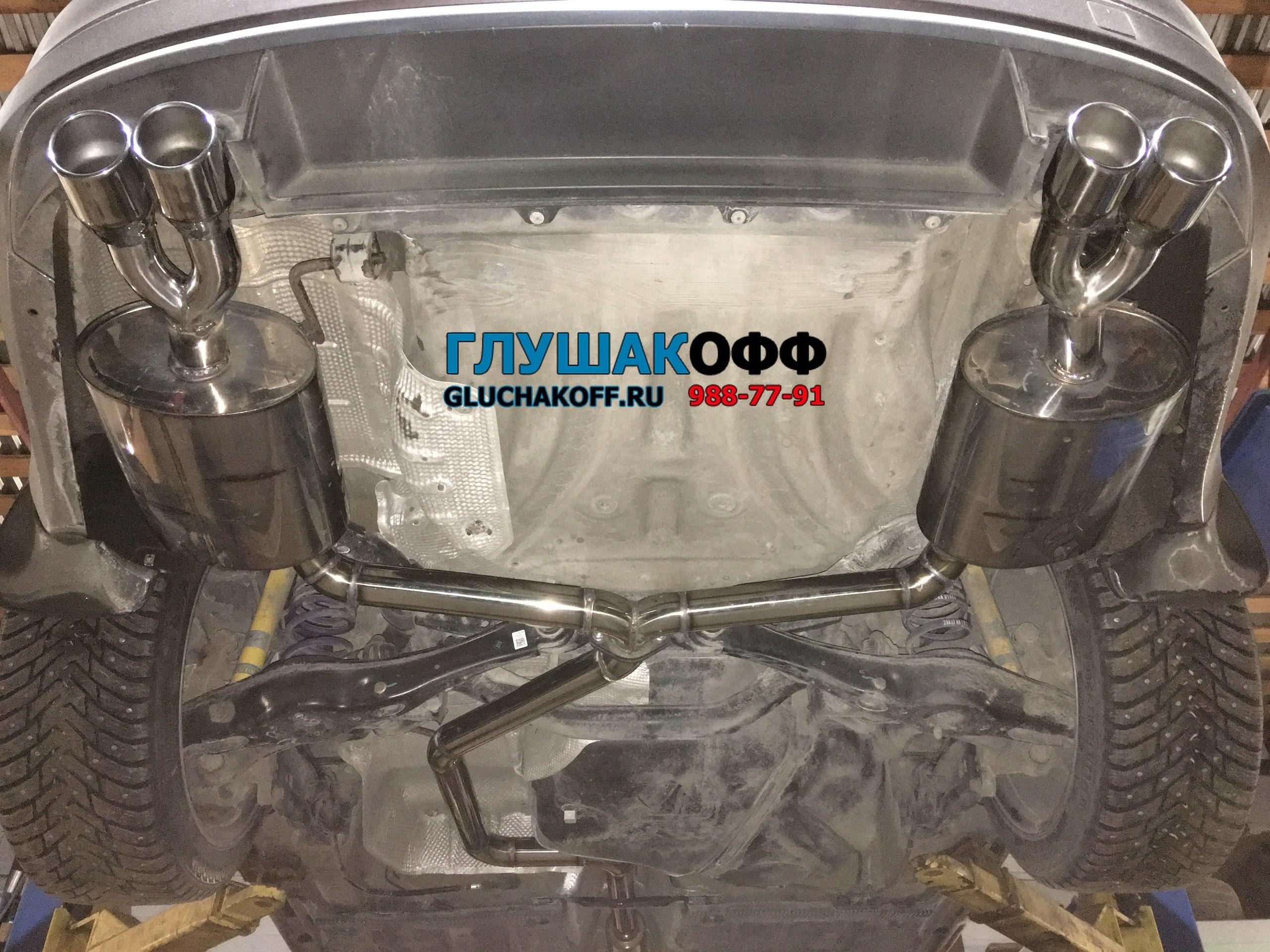 Skoda Octavia A7 - Custom-тюнинг выхлопной системы by GluchakoFF