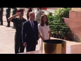 William and Kate at India Gate