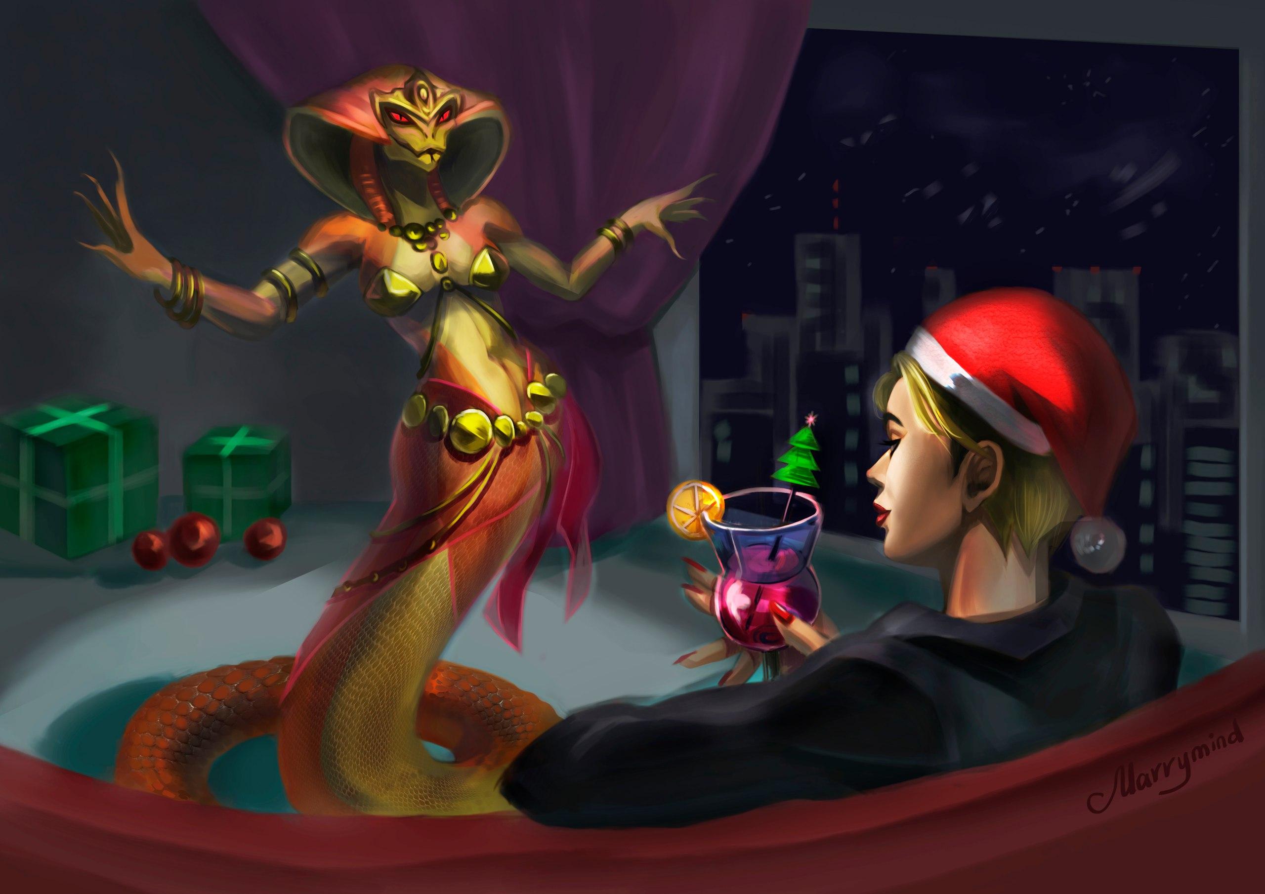 Новогодний танец живота инопланетной Viper (X-COM 2)
