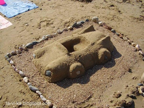Поделки из песка своими руками на пляже 333