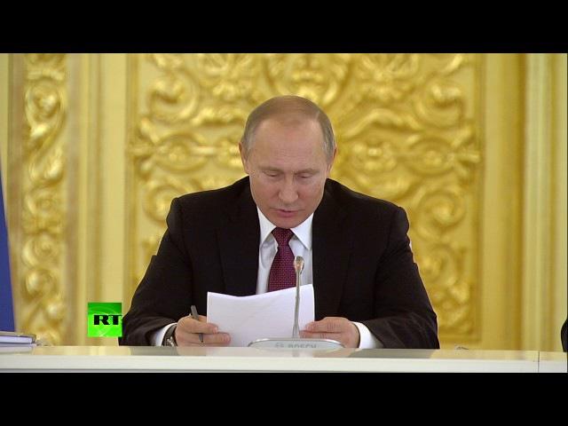 Путин о переданном ему постановлении суда: «Волосы дыбом встают»