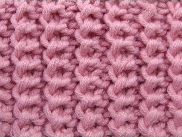 Американская резинка Узоры вязания спицами 3
