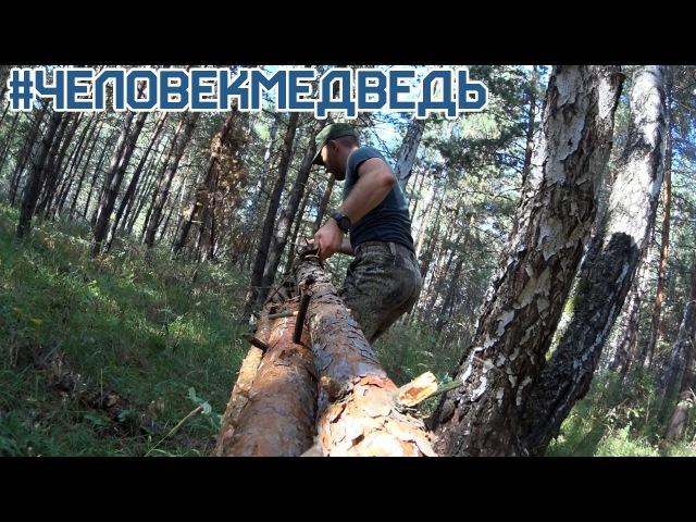 Строительство МЕГА убежища в лесу Серия 1 Building super shelter in the wild