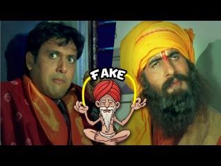 Govinda Amitabh Bachchan As Fake Sadhu | Bade Miyan Chote Miyan | Bollywood Comedy Scenes