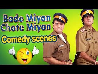 All Comedy Scenes of Bade Miyan Chote Miyan - Amitabh Bachchan Scenes - Govinda Scenes