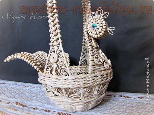 Плетение с газет пасхальных курочек