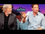 David Duchovny and Jeff Bridges in the late night show James corden