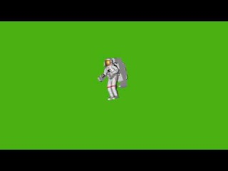 ФУТАЖ КОСМОНАВТ - Скачать бесплатно футажи - Free green screen footage from yda4aTV