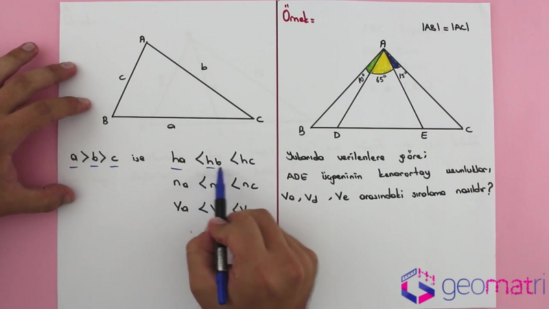 Açı Kenar Bağıntıları 4 ► Üçgen Eşitsizliği III - Konu Anlatımı ve Soru Çözümleri