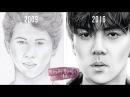 Portrait Drawing Progress Age 14-21 - by Taylor Brooker Art