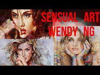 Sensual art Wendy Ng | Нежность женственность цветочные мотивы китайской художницы Венди Энджи [HD]