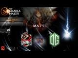 Team Empire vs OG, Manila Major, Group Stage, Game 1