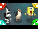 🐾 Губка Боб против собаки агента Дадли и Пингвина из Мадагаскара.
