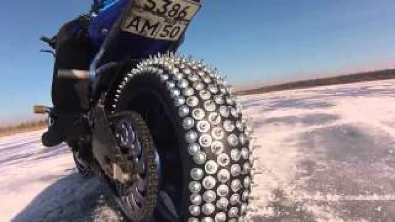 Зимний СТАНТ на мотоцикле, winter stunt motorbike