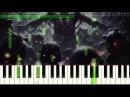 Тили Тили бом страшная колыбельная(на пианино).Как играть, полная версия!