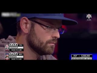 Самый эмоциональный ОЛЛ-ИН на $28млн (покер турнир WSOP 2016)
