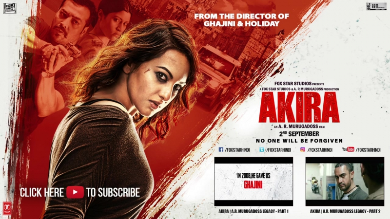 Akira - Official Trailer - Sonakshi Sinha - A.R. Murugadoss - Releasing 2nd September 2016