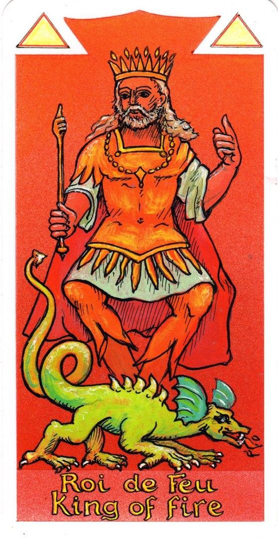 описание значение короля огня жезлов таро тота толкование карты таро