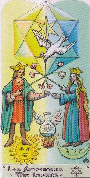 толкование значение карты таро выбор влюбленные шестой аркан