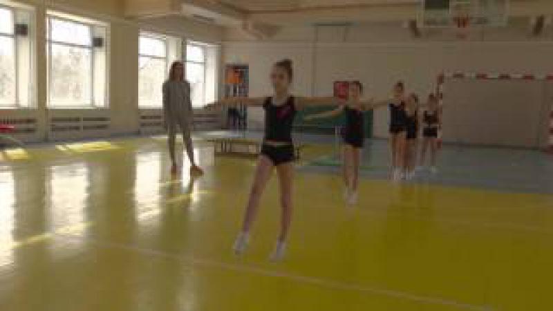 Урок-тренировка гимнасток